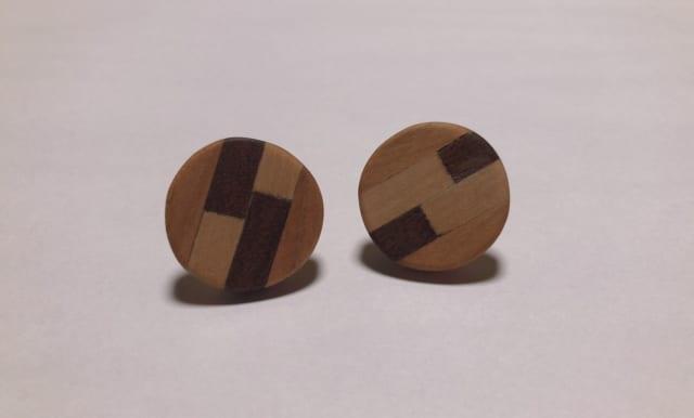 寄木細工で手作りアクセサリー体験